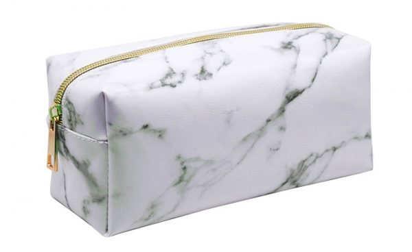 Cosmetic Bag with Marble Print