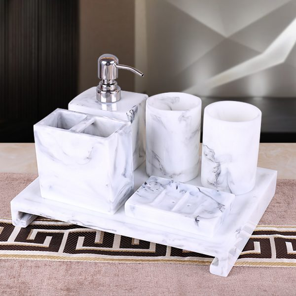 Marble Design Bathroom Set