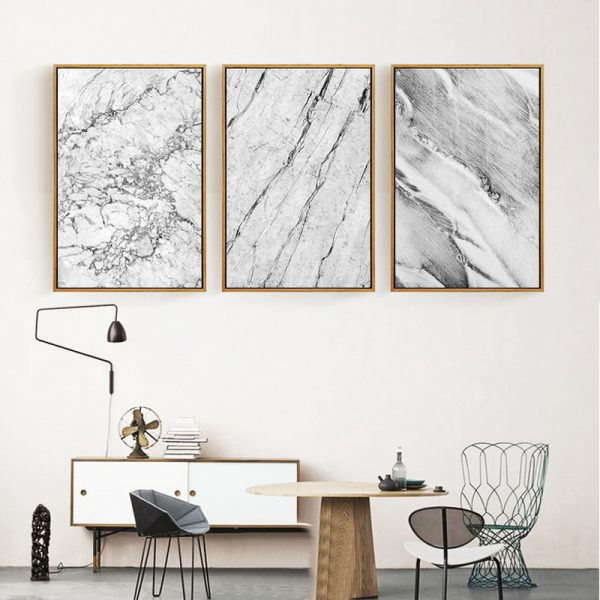 Marble Pattern Canvas Printed Wall Picture