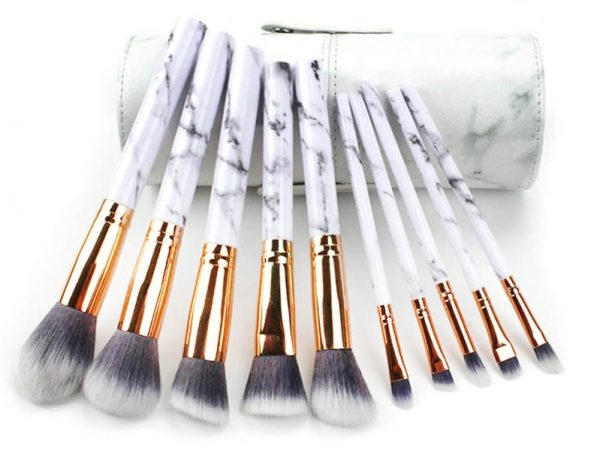 Marble Pattern Make-Up Brushes Set
