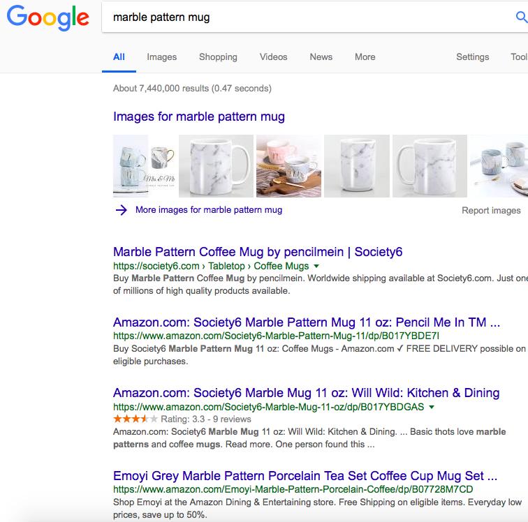 Google marble mug